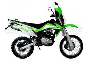 Мотоцикл RACER ENDURO-200 ПТС (зеленый)