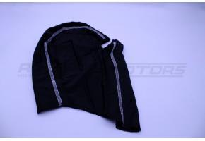 Подшлемник размер 62-64 (черный, белый кант)