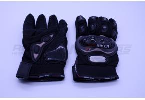 Перчатки мото PRO-BIKER L (костяшки,черные)