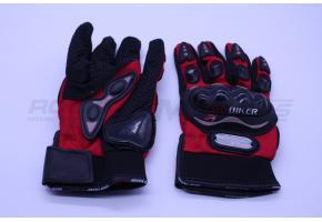 Перчатки мото PRO-BIKER M (костяшки,красные)
