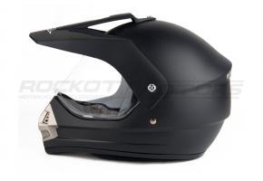 Шлем кроссовый BLD 819 (черн, красн, син. глянцевый)