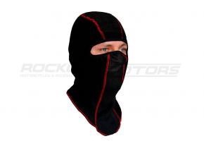 Подшлемник утеплённый размер 56-58 (черный, красный кант)