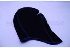Подшлемник утеплённый размер 56-58 (черный, синий кант)