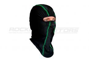Подшлемник размер 56-58 (черный, зелёный кант)