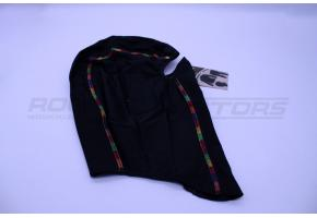 Подшлемник размер 56-58 (черный, зел/син/красн/оранж кант)