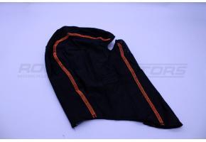 Подшлемник размер 56-58 (черный, оранжевый кант)