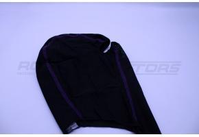 Подшлемник размер 56-58 (черный, фиолетовый кант)