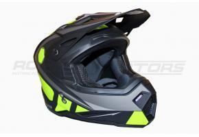 Шлем кроссовый Ataki MX801 Strike Hi-Vis M (желтый/черый матовый)