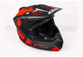 Шлем кроссовый Ataki MX801 Strike S (красный/черный глянцевый)