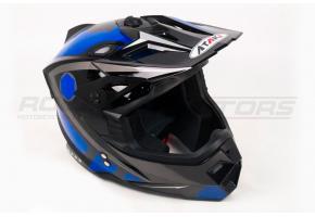 Шлем кроссовый Ataki MX801 Strike S (синий/черный глянцевый)