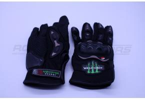Перчатки мото MONSTER ENERGY MCS-01D L (костяшки,черные)