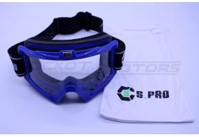 Очки кроссовые STELS YH-67-12 (синий, уценка)