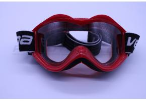 Очки кроссовые VEGA (стандарт) (красные глянцевые)