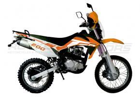 Мотоцикл RACER ENDURO-200 ПТС (оранжевый)