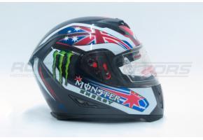 Шлем интеграл Ataki FF311 Monster S (черный глянцевый)