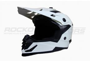Шлем кроссовый Ataki SC-16 Solid M (белый глянцевый)