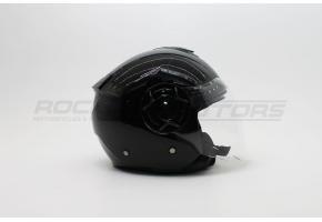 Шлем открытый с двойным стеклом ROCKOT PD-625 (M) (черный глянцевый)