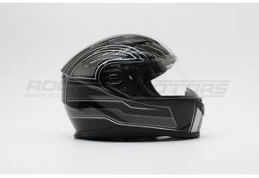 Шлем интеграл VEGA PD-129 Ghost (L) (черный/белый глянцевый)