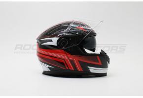 Шлем интеграл с двойным стеклом VEGA PD-129 Ghost (S) (черный/красный/белый глянцевый)