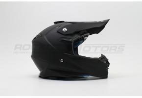 Шлем кроссовый VEGA PD-167 Solid (M) (черный матовый)