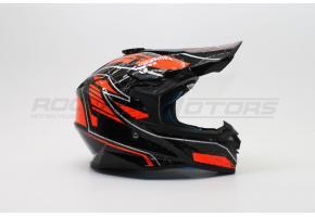 Шлем кроссовый ROCKOT PD-167 Cracj (S) (оранжевый/черный глянцевый)
