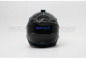 Шлем кроссовый ROCKOT PD-167 UF mumba (XL) (черный/синий глянцевый)